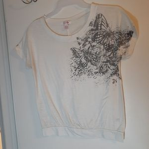 Graphic butterfly top